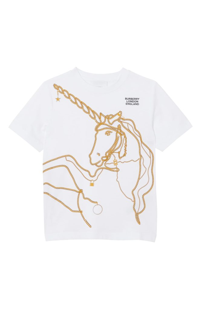 Unicorn Chain Graphic Tee $120.00