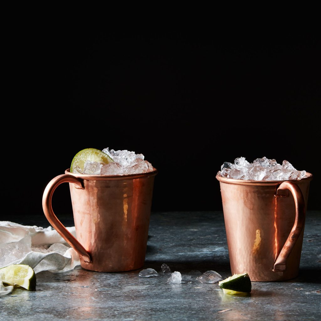 Hammered Copper Moscow Mule Mugs (Set of 2) $78