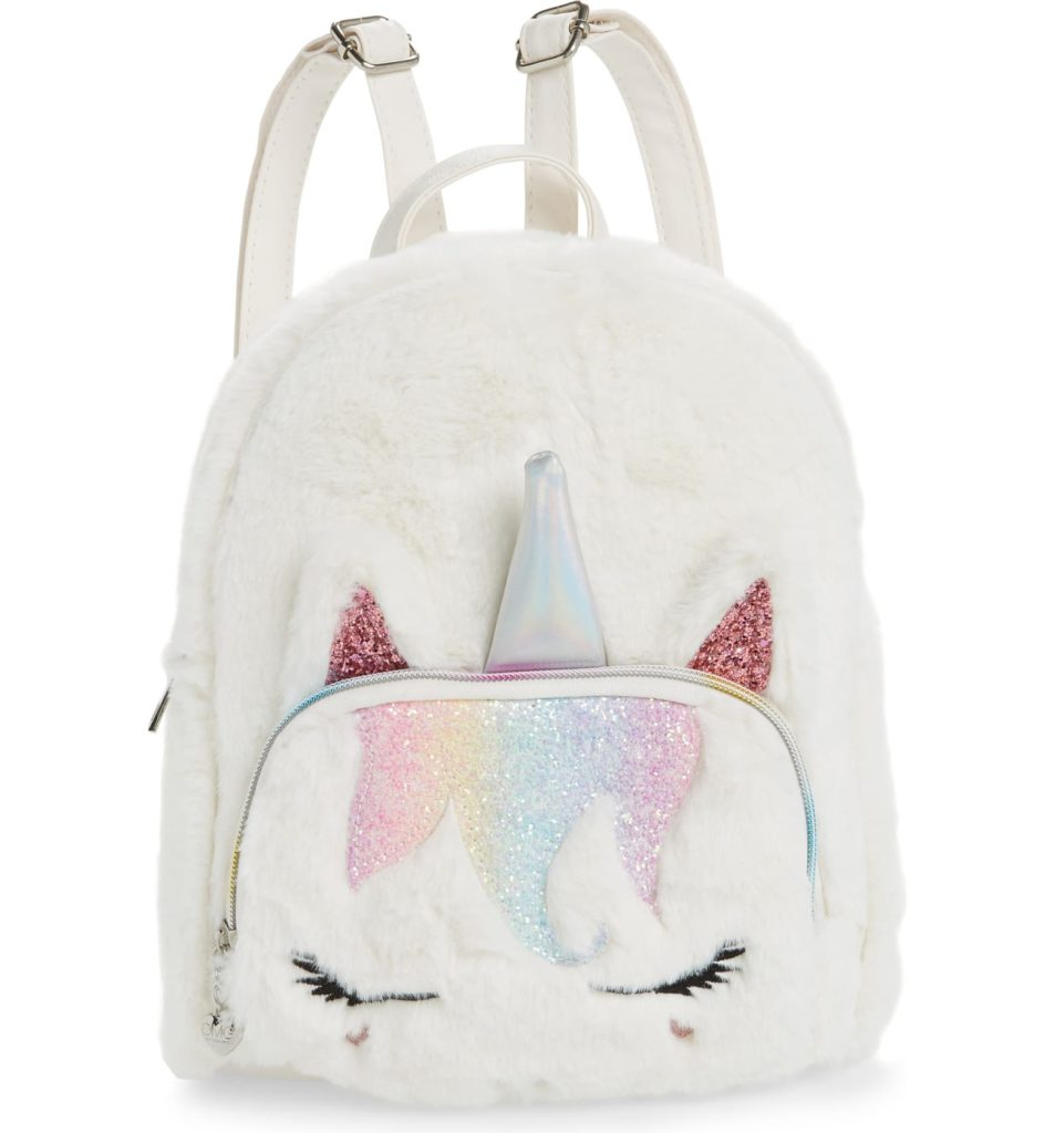 Mini Unicorn Faux Fur Backpack $40.00