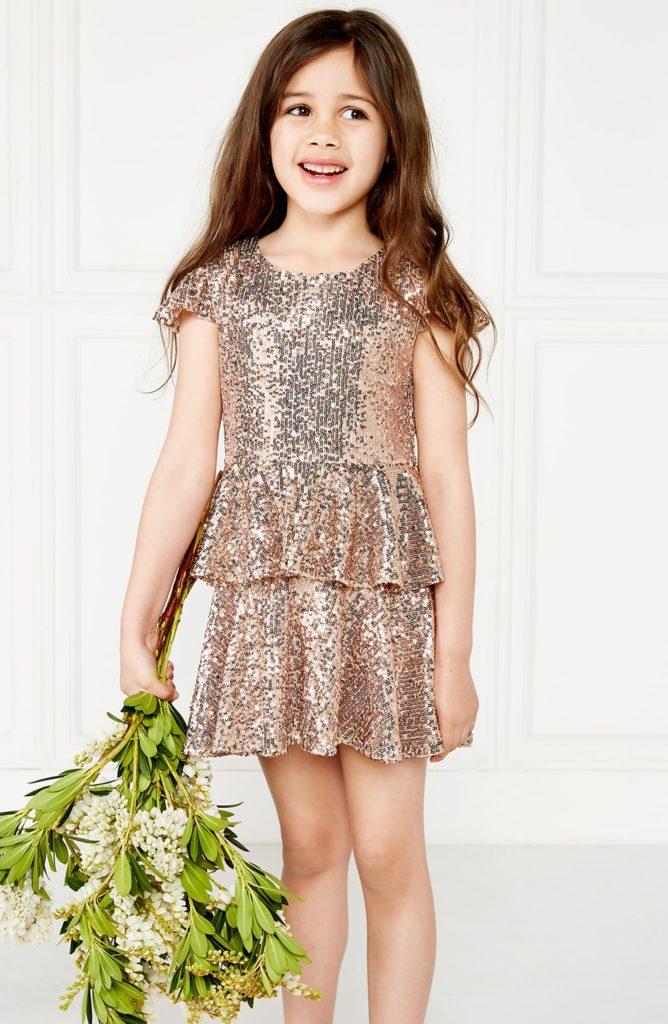 Goldie Tiered Sequin Dress $94.99