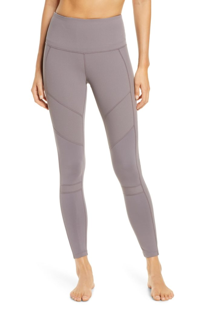 Moto Ribbed High Waist Ankle Leggings$69.00