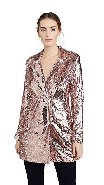 endless rose Sequin Double Breasted Blazer $150.00