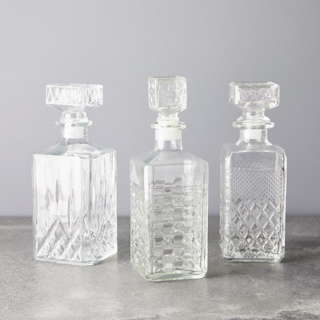 Vintage French Cut Glass Whiskey Decanter$98