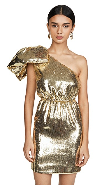 Metallic One Shoulder Mini Dress $1,595.00