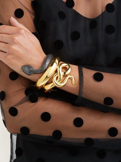 BEGUM KHAN Snake gold-plated cuff$1,310