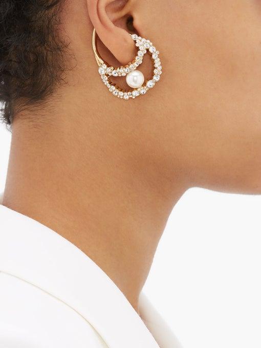 BURBERRY Crystal-embellished ear cuff$490