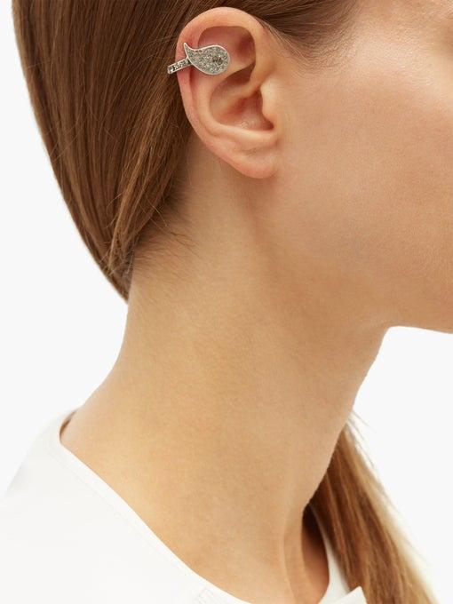 ETRO Crystal-embellished paisley ear cuff $105