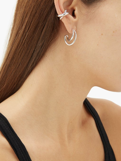 CHARLOTTE CHESNAIS Initial sterling silver ear cuff $294