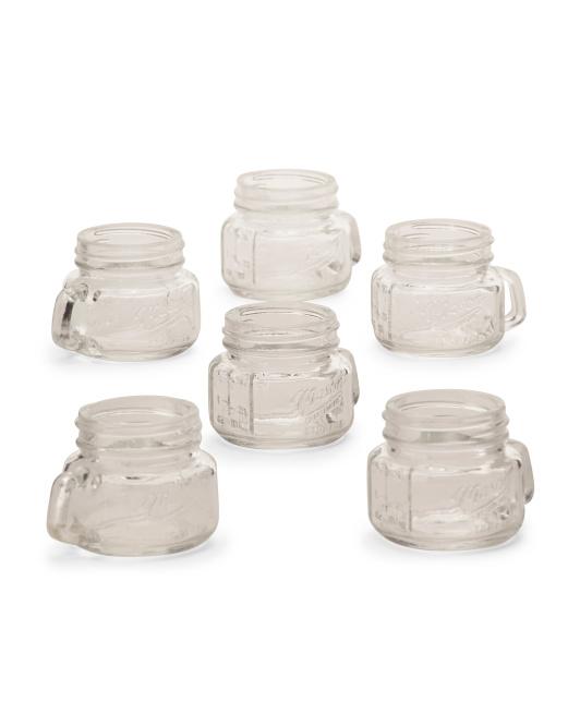 Mason Craft & More 6pk 2oz Mason Jar Shot Glasses $9.99