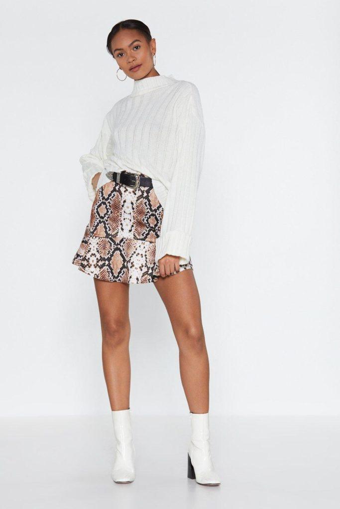 Flip It Snake Skirt $12.00