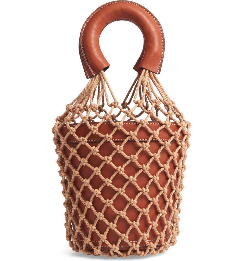 Moreau Cage Bucket Bag STAUD $375.00