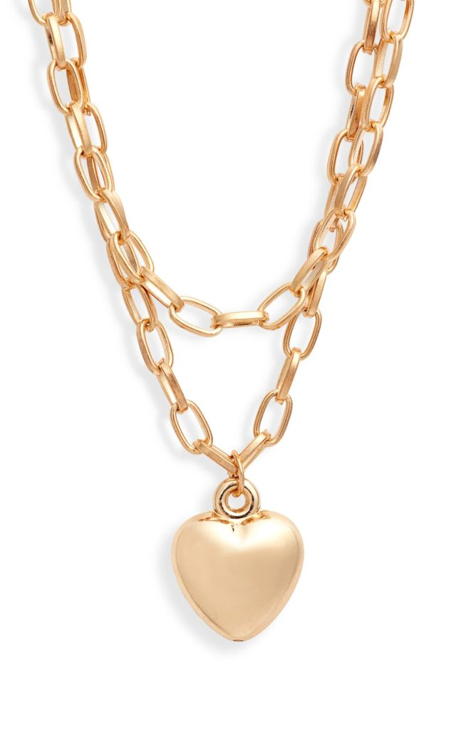 Double Strand Heart Pendant Necklace8 OTHER REASONS $39.00