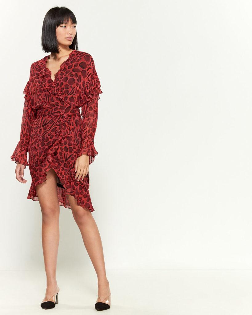 Linger Long Sleeve Wrap Dress $69.80