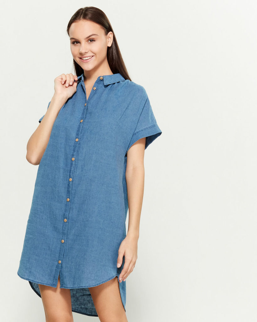 Gillian Wash Central Linen-Blend Shirtdress$17.45