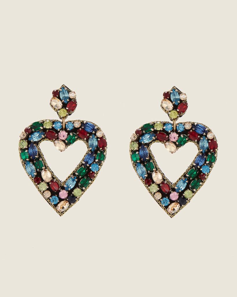 ARDIN Heart Crystal Drop Earrings$24.99