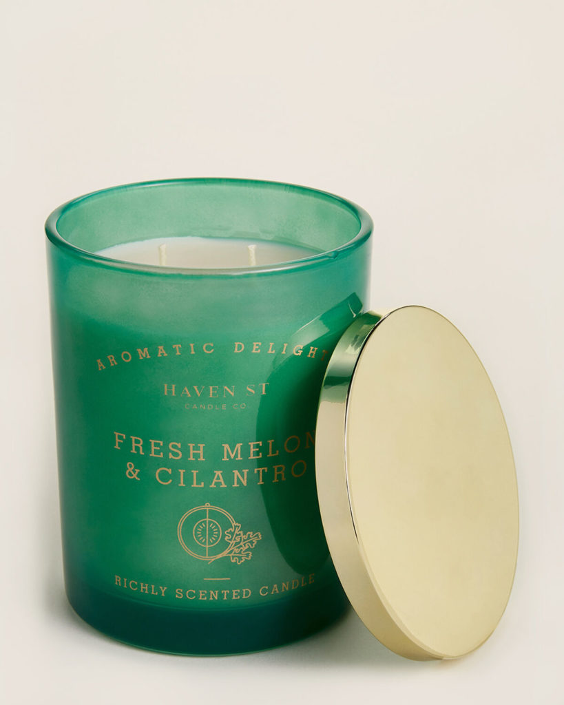 HAVEN STREET Fresh Melon & Cilantro Scented Candle $8.99