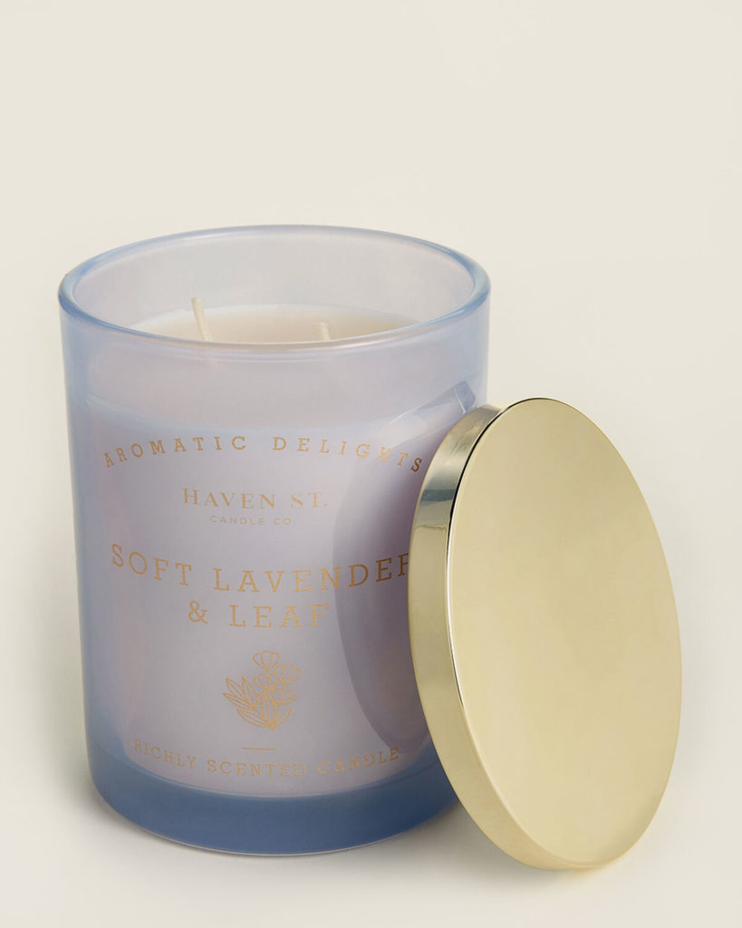 HAVEN STREET Soft Lavender & Leaf Scented Candle $8.99