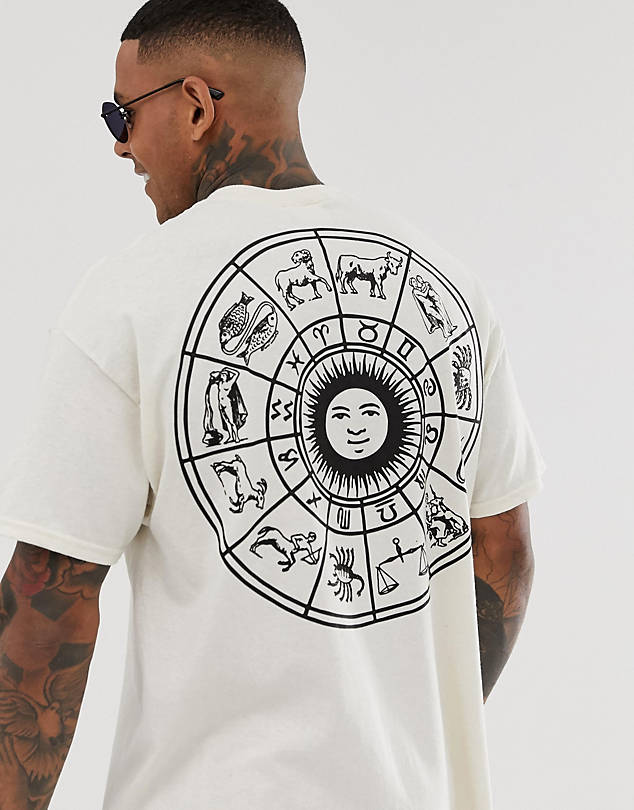 HNR LDN zodiac back print t-shirt in oversized $20.50