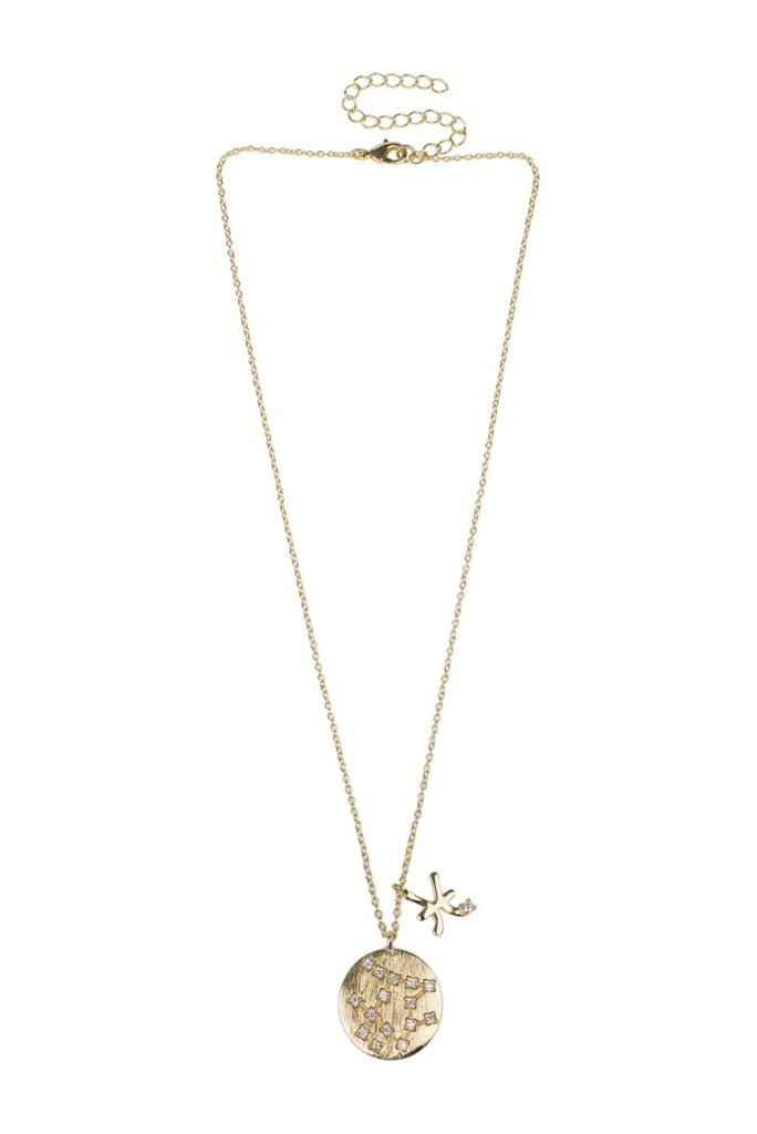 14K Yellow Gold Plated CZ Zodiac Pendant Necklace - Multiple Options $39.97