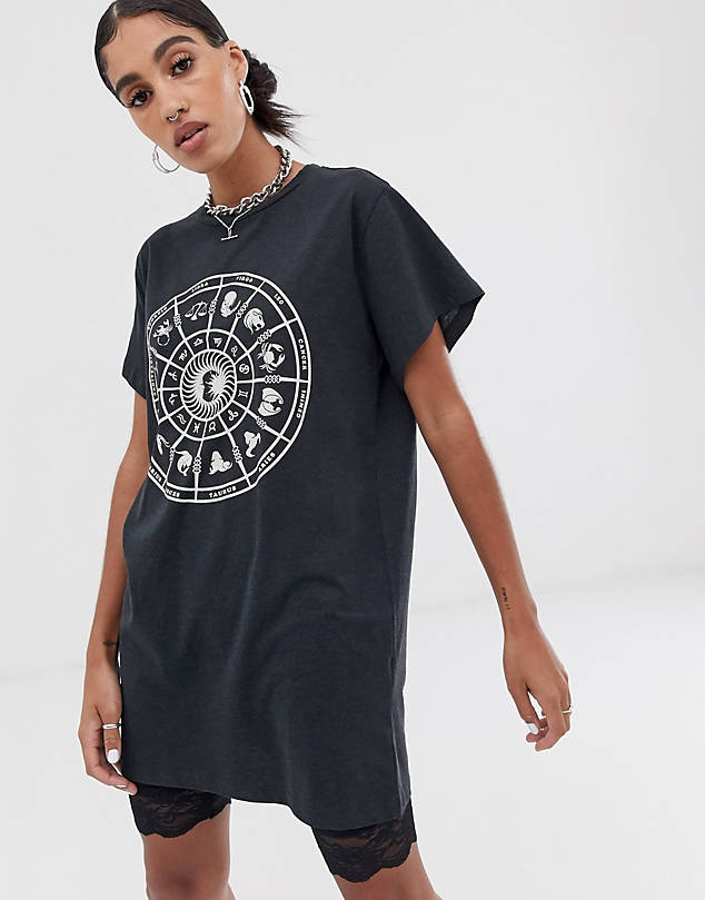 Noisy May oversized zodiac t-shirt $16.00