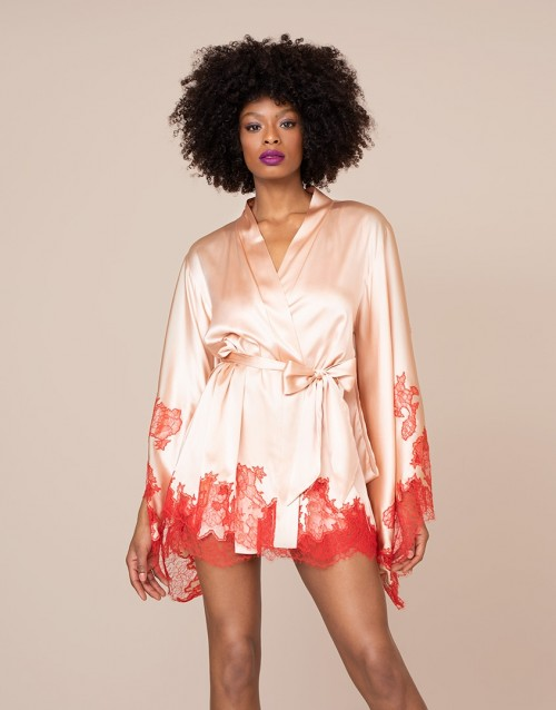 Christi Short Gown Nude And Red $1,525