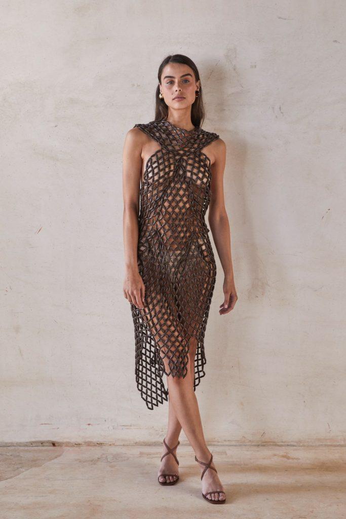 Faia Dress - Mahogany $1,998