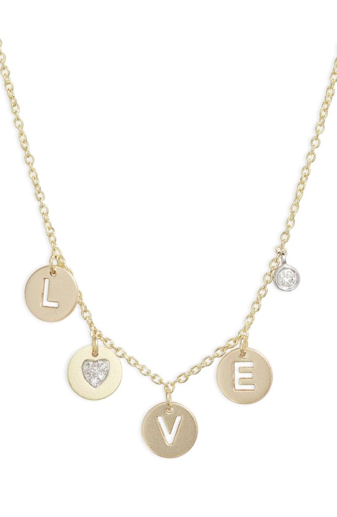 Love Diamond Charm Necklace $440.00