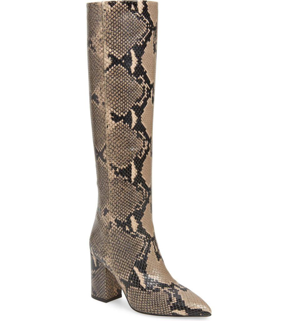 Python Embossed Knee High BootsPARIS TEXAS $795.00
