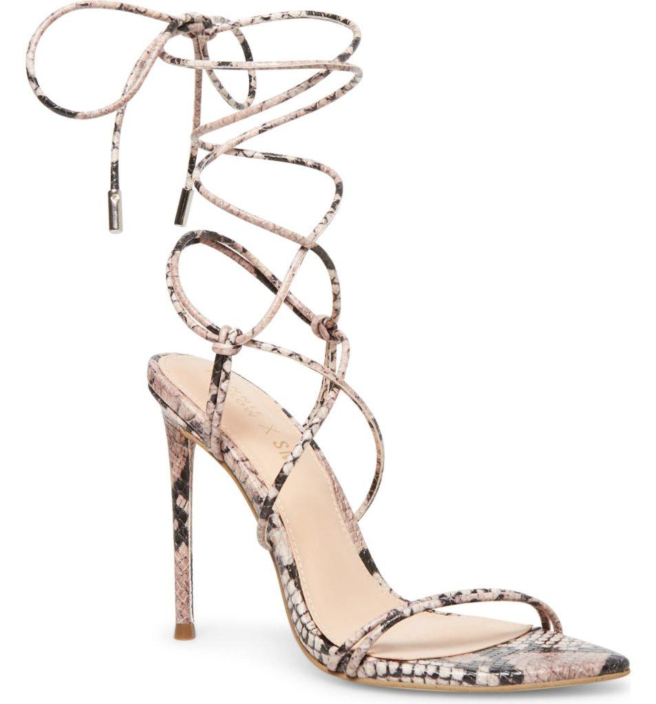 Ankle Wrap Stiletto Sandal $109.95