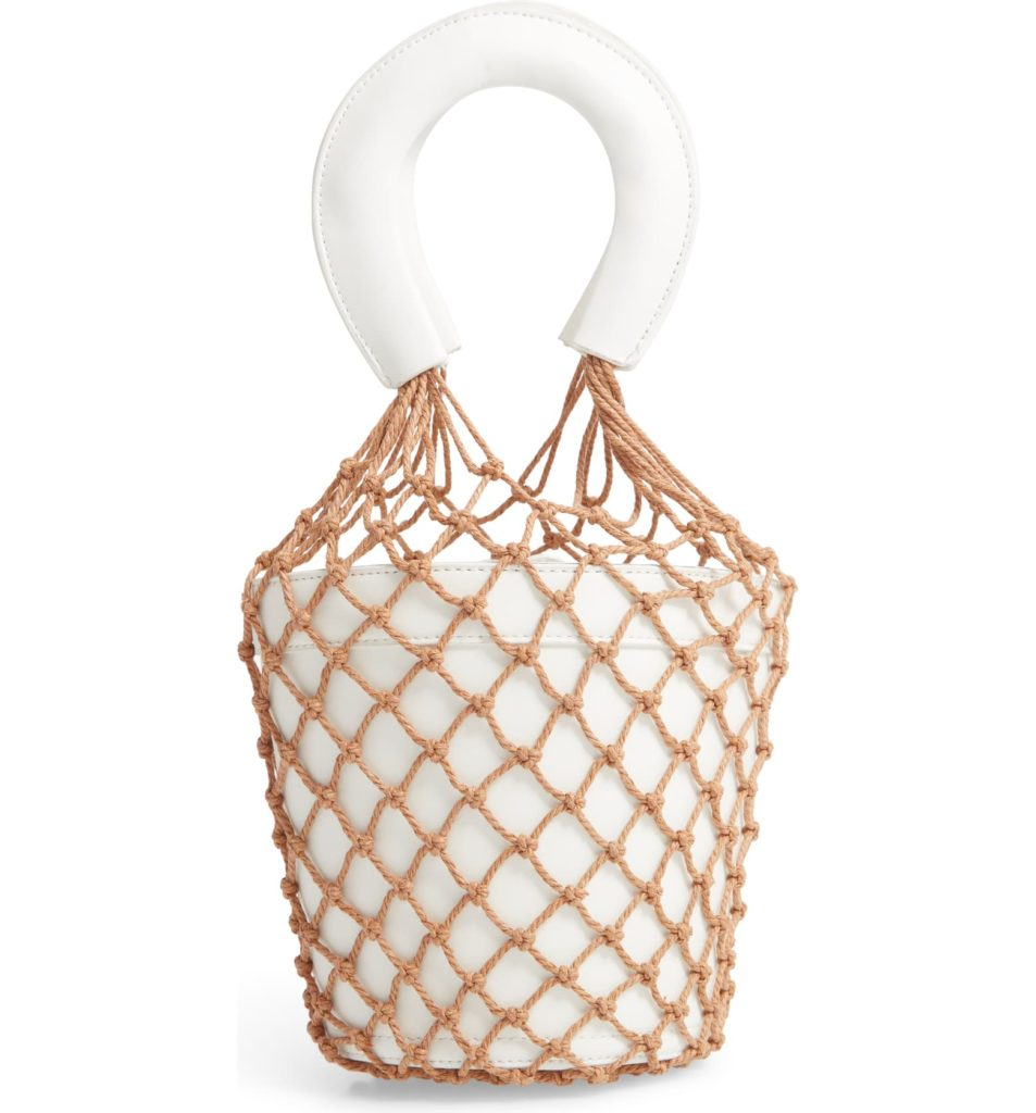 Net Faux Leather Bucket BagKNOTTY $88.00