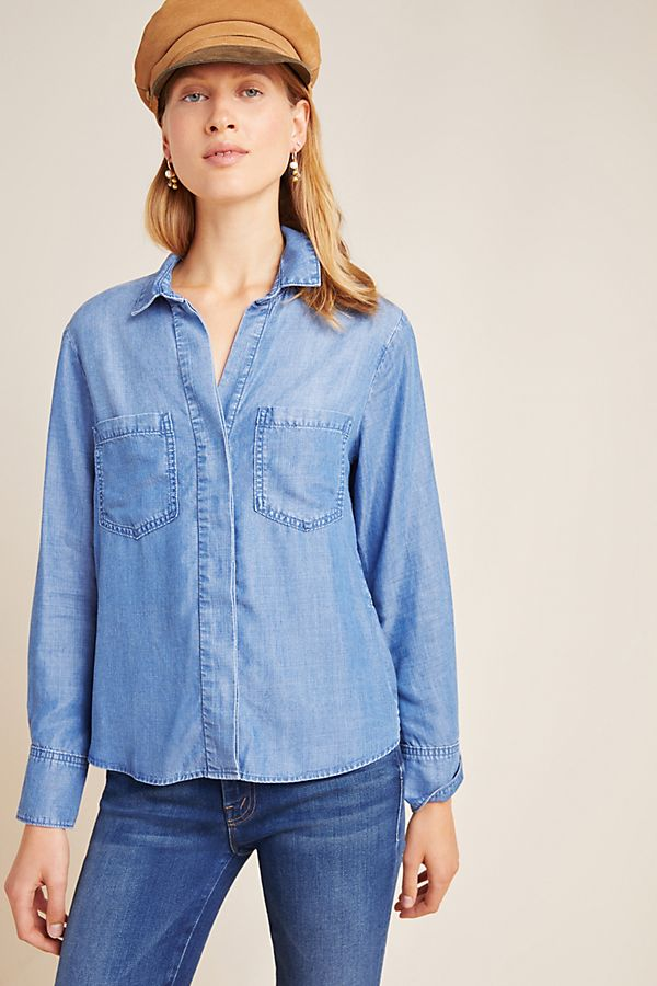 Cloth & Stone Chambray Utility Buttondown$98.00