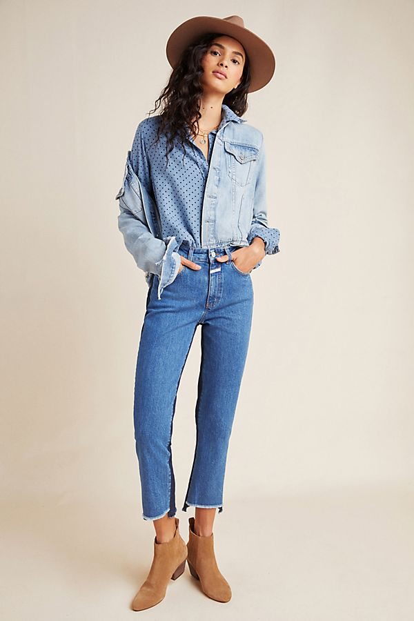 Closed Glow Colorblocked High-Rise Straight Jeans $345.00