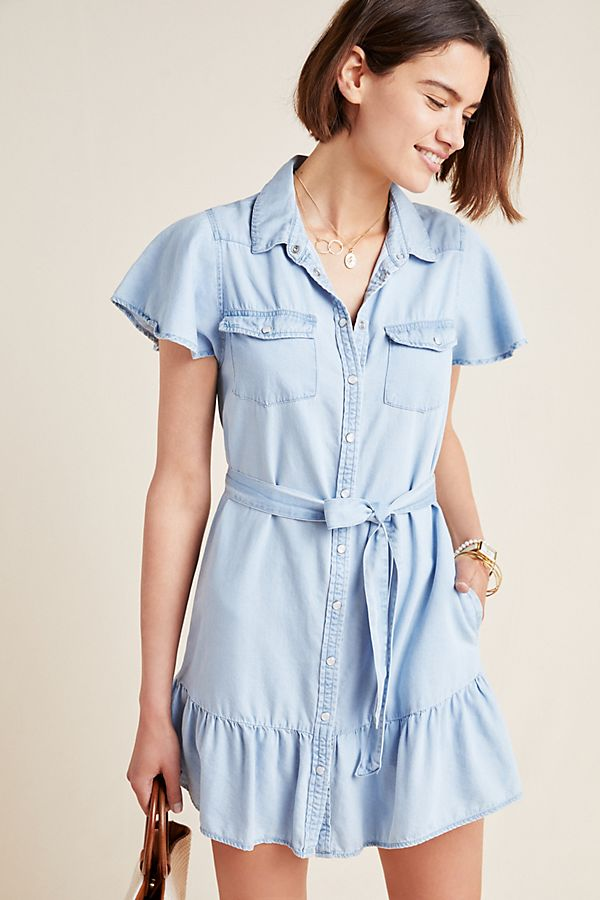 Paige Callan Chambray Shirtdress $199.00