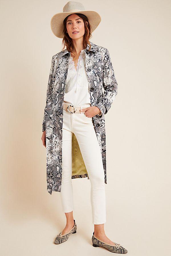 Helene Berman Snake-Printed Trench Coat$228.00