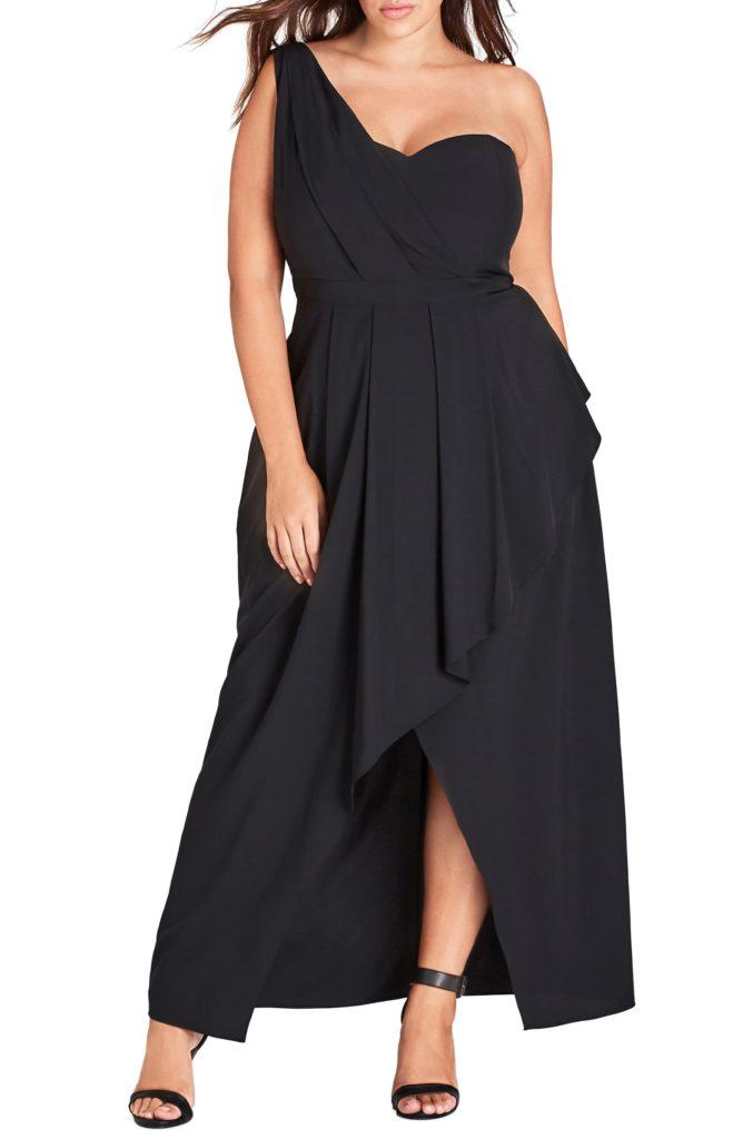 Allure One-Shoulder Maxi Dress CITY CHIC $139.00