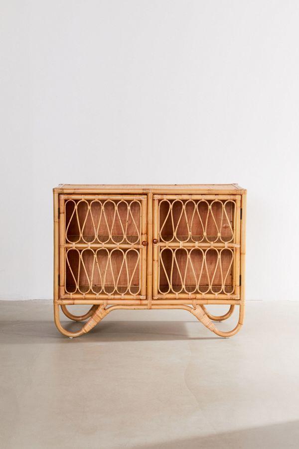 Melody Rattan Storage Cabinet $379.00