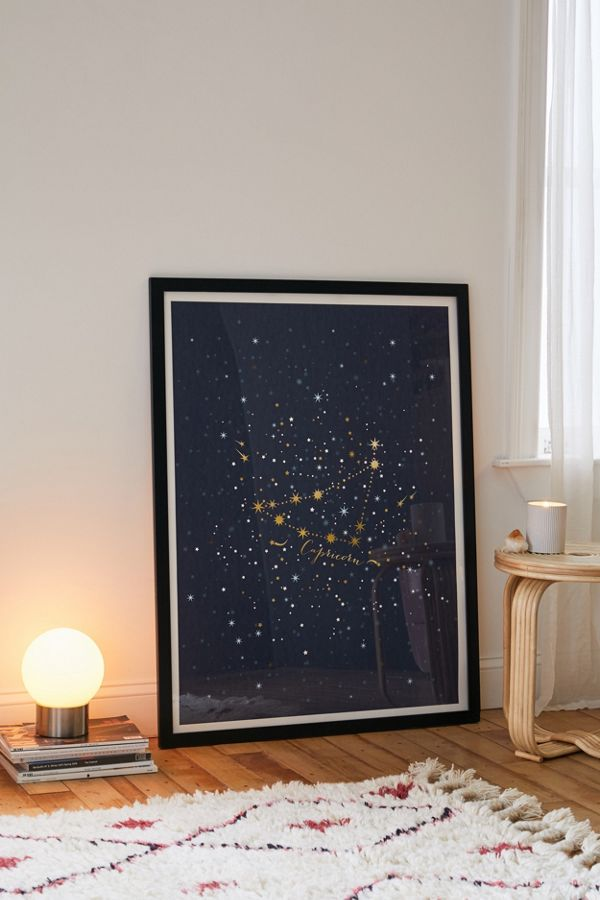 Iveta Abolina Star Constellations Capricorn Art Print $19.00–$259.00