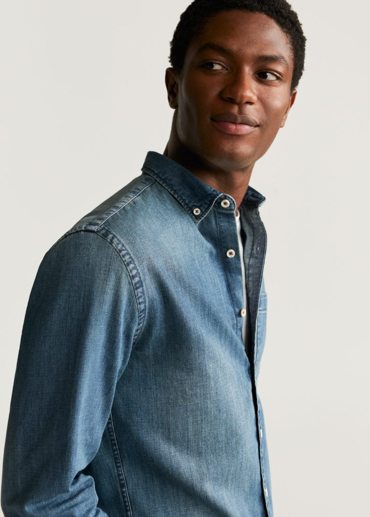 Relaxed fit denim shirt $34.99