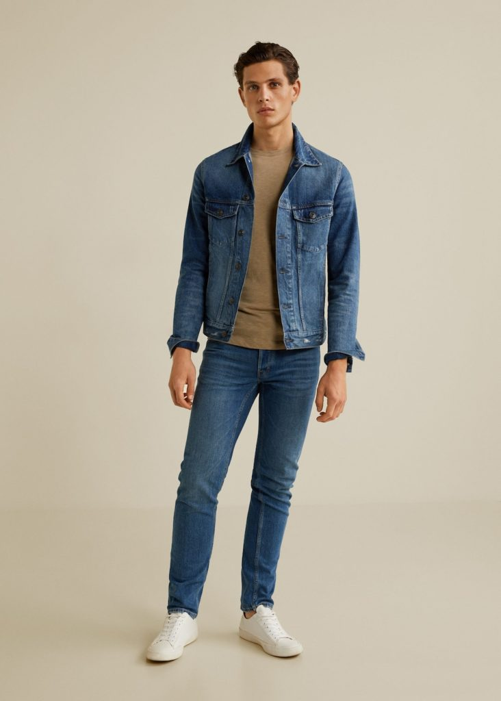 Dark wash denim jacket $39.99