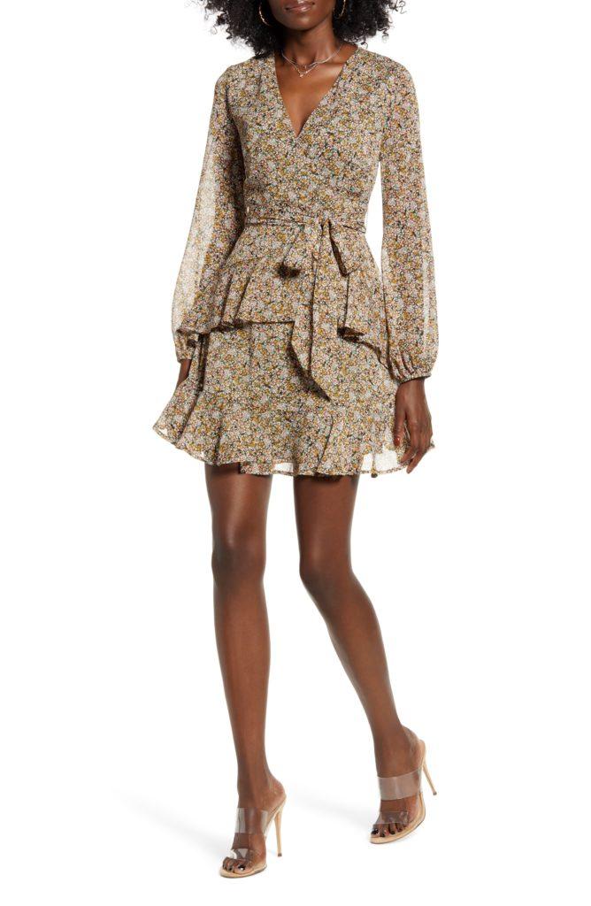 Tiered Wrap Dress $29.40