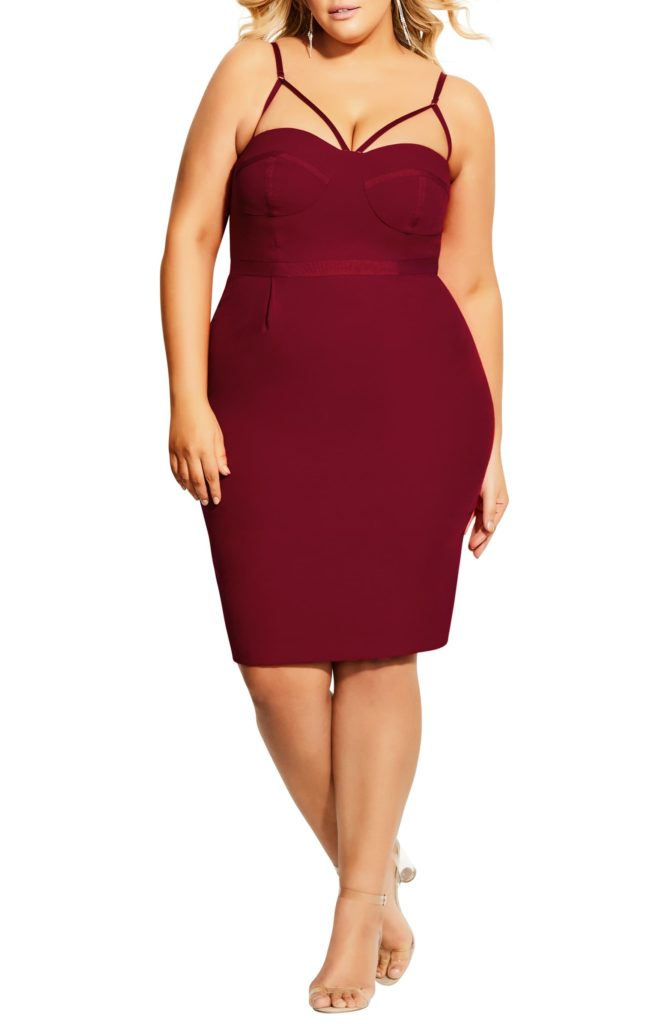 Undress Me Strappy Sheath Dress CITY CHIC $139.00