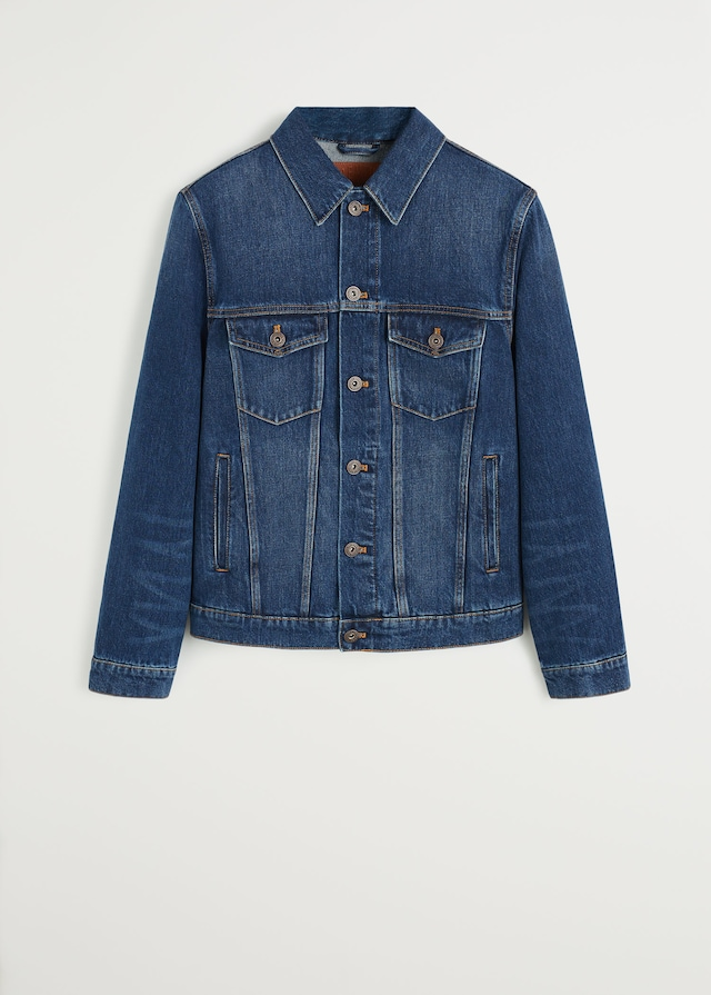 Dark wash denim jacket $69.99