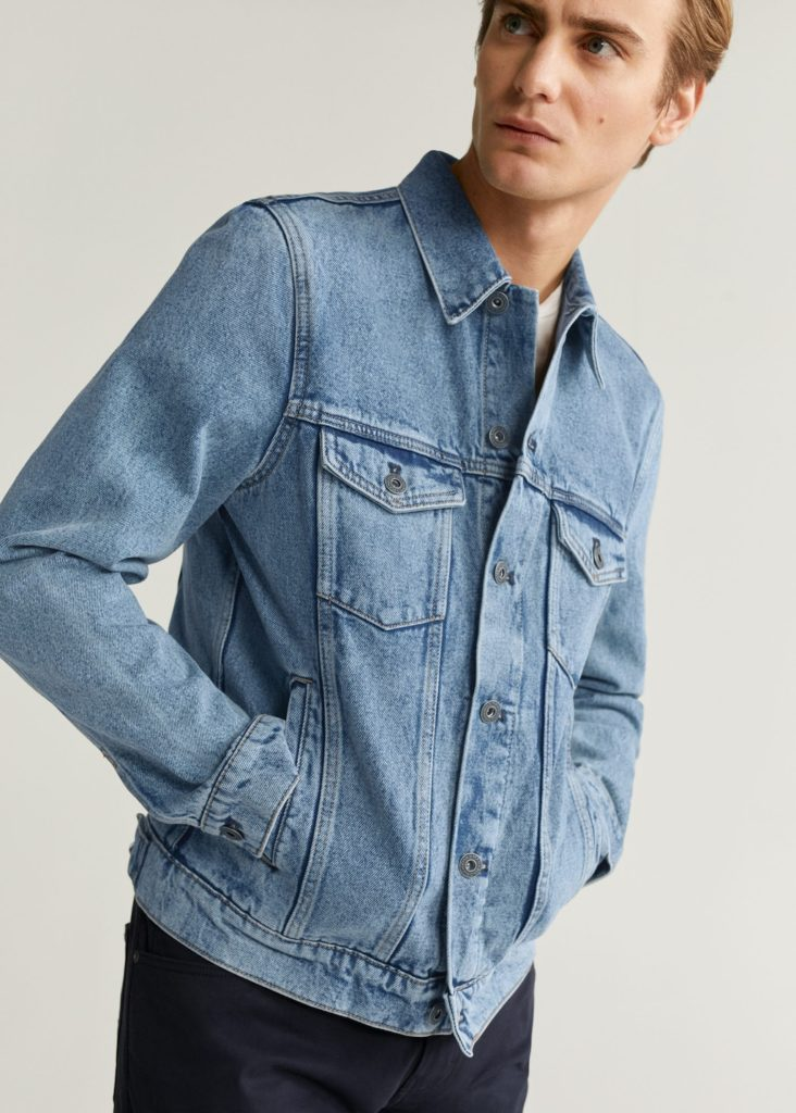 Medium wash denim jacket $69.99