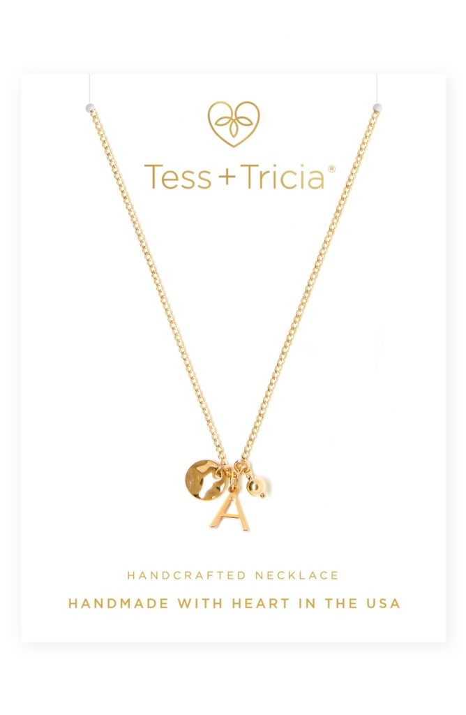 Cluster Initial Necklace TESS + TRICIA $65.00