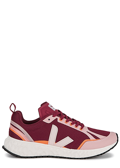 VEJA Condor burgundy mesh sneakers $135.00