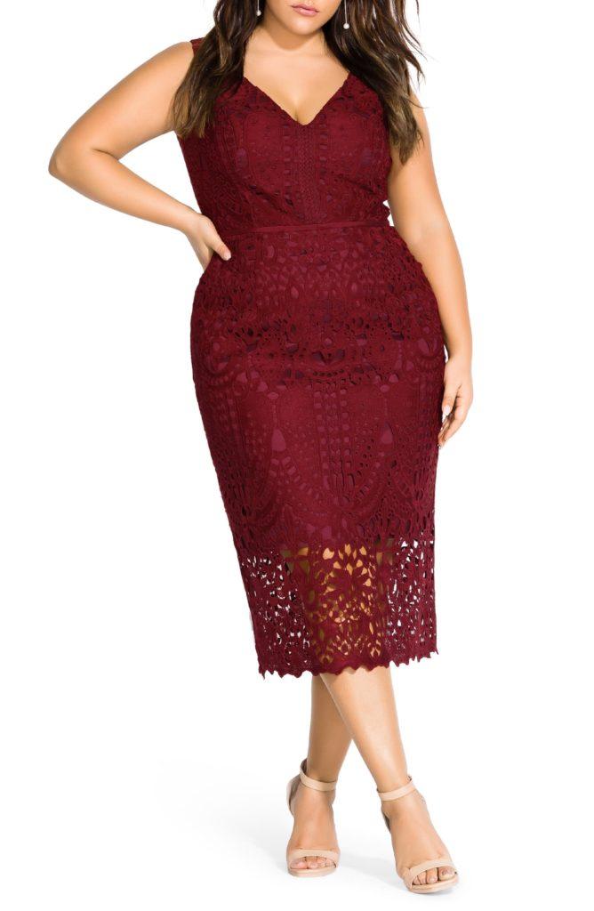 All Class Sleeveless Lace Sheath Dress CITY CHIC $149.00