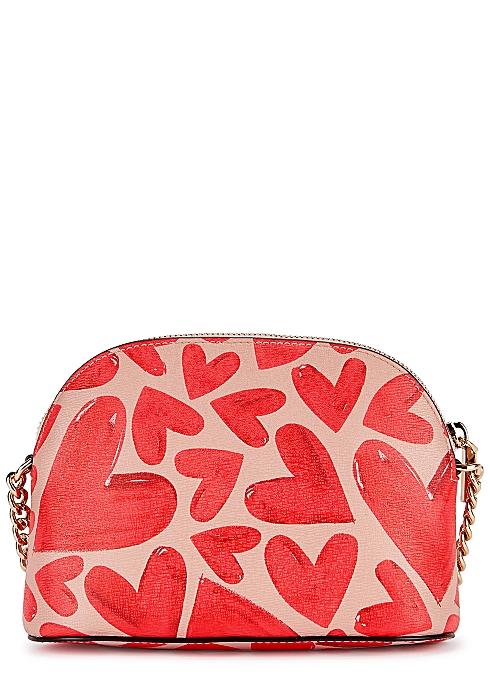KATE SPADE NEW YORK Spencer heart-print faux leather cross-body bag $170.00