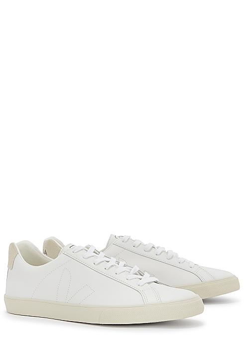 Esplar white leather sneakers $100.00