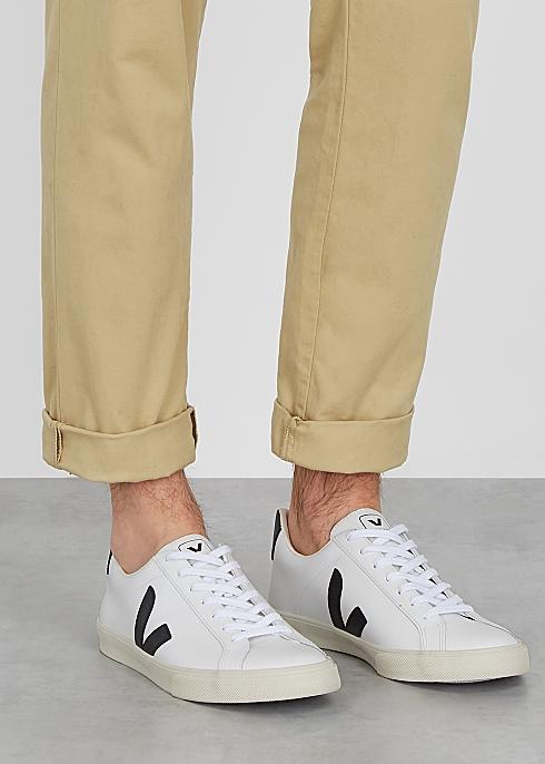 Esplar white leather sneakers $130.00