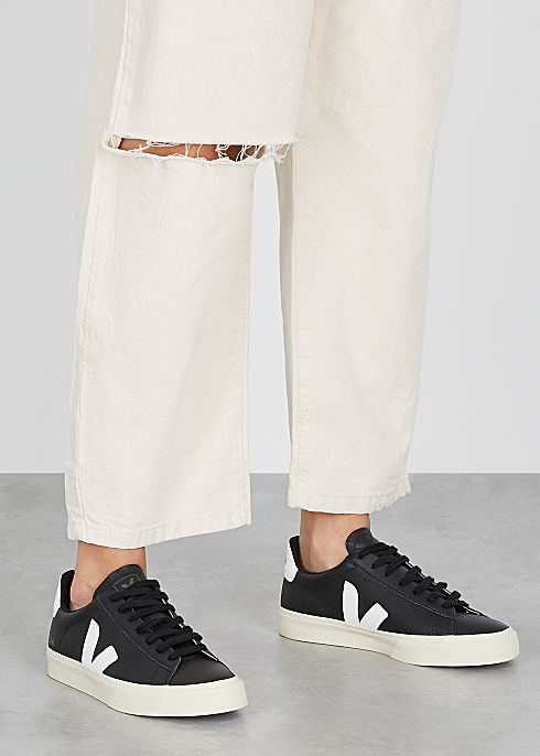 Campo black leather sneakers $120.00